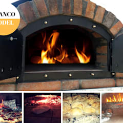 Pizza Oven Doors:  Front yard by Dome Ovens®, Mediterranean