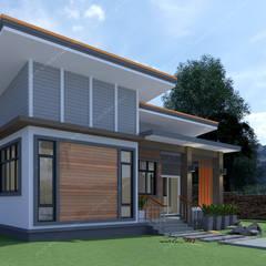 บ้านพักอาศัยชั้นเดียว:  บ้านสำหรับครอบครัว โดย แบบบ้านออกแบบบ้านเชียงใหม่,