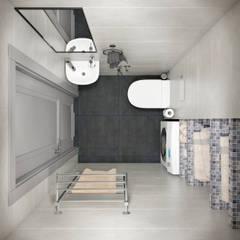 Квартира 60 кв.м. в современном стиле ЖК Ясный: Ванные комнаты в . Автор – Студия архитектуры и дизайна Дарьи Ельниковой, Эклектичный