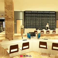 NTUS Library大學圖書館設計案 - 京悅設計:  視聽室 by 京悅室內裝修設計工程(有)公司|真水空間建築設計居研所