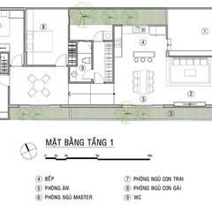 Thiết Kế Nhà 1 Tầng 3 Phòng Ngủ Chỉ Với 800 Triệu:  Nhà gia đình by Công ty TNHH Xây Dựng TM – DV Song Phát