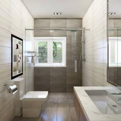 Phòng vệ sinh thông thoáng, sáng sủa:  Phòng tắm by Công ty TNHH Xây Dựng TM – DV Song Phát