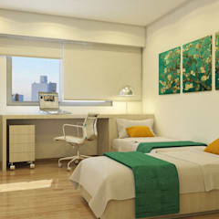Arcadia 5: Dormitorios de estilo  por Arcadia Arquitectura,Moderno
