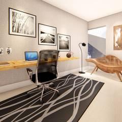 Escritório: Escritórios  por Pedro Aguiar Arquitetura + Obra