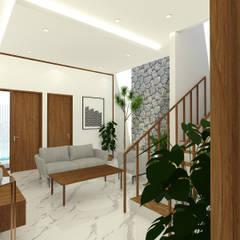 Interior Rumah Pondok Tjandra:  Ruang Keluarga by SEKALA Studio