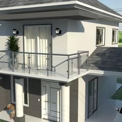 Casas unifamiliares de estilo  por Janete Krueger Arquitetura e Design