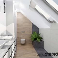 ห้องน้ำ โดย MIKOŁAJSKAstudio ,