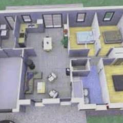 Maison de architecte 3d: Chambre de style de style Classique par Architecte Gratuit