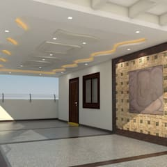 Srikanth's Residence 2016:  Corridor & hallway by myhome developers,Asian