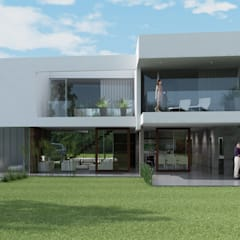 de Estudio D3B Arquitectos Minimalista Concreto