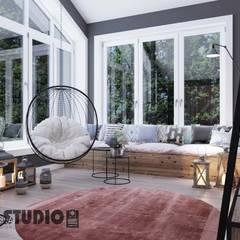 Przytulne BOHO: styl , w kategorii Salon zaprojektowany przez MIKOŁAJSKAstudio