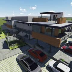 Perspectiva exterior: Condominios de estilo  por Aformal
