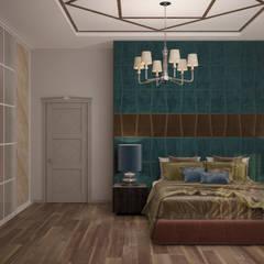 Dormitorios de estilo  por Студия интерьерного дизайна happy.design