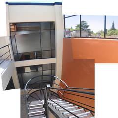 Estacionamiento M: Cocheras dobles de estilo  por Estudio D3B Arquitectos