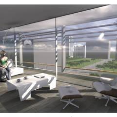 Hotel AC Hospitales de estilo moderno de Estudio D3B Arquitectos Moderno Hormigón