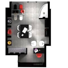 e.a Interior Design – Alsancak Ofis Projesi:  tarz Ofisler ve Mağazalar