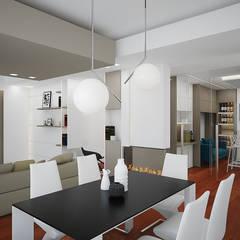 Apartment A: Soggiorno in stile  di olivia Sciuto