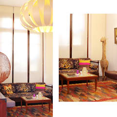 Casa Gold: Livings de estilo asiático por MINUÉ Arquitectura