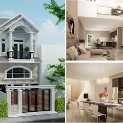 منزل عائلي صغير تنفيذ Công ty TNHH Xây Dựng TM – DV Song Phát , حداثي