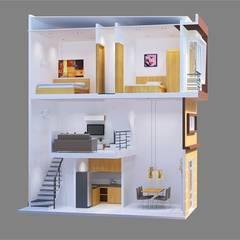 منزل عائلي صغير تنفيذ Công ty TNHH Xây Dựng TM – DV Song Phát, حداثي