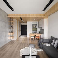 Salas / recibidores de estilo escandinavo por 極簡室內設計 Simple Design Studio
