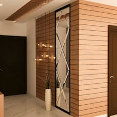 Entry wall paneling :  Corridor & hallway by NVT Quality Build solution