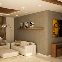 Prestige fern residence:  Living room by NVT Quality Build solution