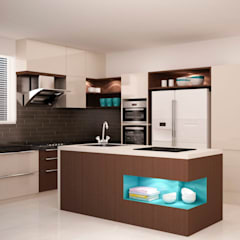 Full height storage's  : modern Kitchen by NVT Quality Build solution