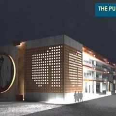 Oficinas y Tiendas de estilo  por Samadhan Architects