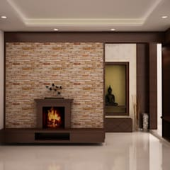 Bellezea :  Living room by NVT Quality Build solution