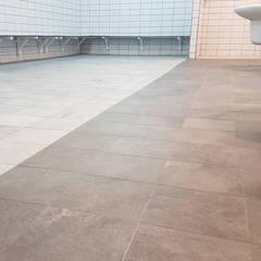 Rehabilitación polideportivo Alcobendas: Espacios comerciales de estilo  de Vivienda Sana