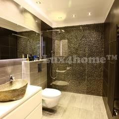 Łazienkowa umywalka z kamienia polnego na blat: styl , w kategorii Łazienka zaprojektowany przez Lux4home™