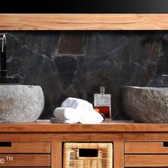 ŁAZIENKOWE UMYWALKI Z KAMIENIA POLNEGO NA BLAT: styl , w kategorii Łazienka zaprojektowany przez Lux4home™