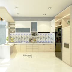 Dapur:  Dapur built in by CASA.ID ARCHITECTS