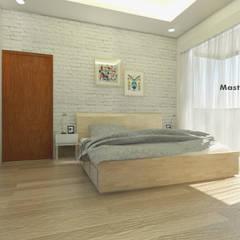 Master Bedroom:  Kamar Tidur by CASA.ID ARCHITECTS