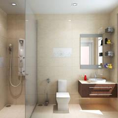 Phòng tắm đầy đủ tiện nghi.:  Phòng tắm by Công ty TNHH Thiết Kế Xây Dựng Song Phát
