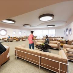 Lounge Cruise Ship: Yates y jets de estilo moderno por VM Rendering