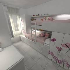 Habitación de de Niñas: Dormitorios infantiles de estilo minimalista por Aida Tropeano & Asoc.