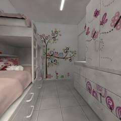 Habitación de de Niñas: Habitaciones para niñas de estilo  por Aida Tropeano & Asoc.