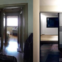 잠실 아파트 리모델링 - 미니멀 한옥: 주식회사 착한공간연구소의  방