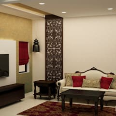 Living area: asian Living room by NVT Quality Build solution