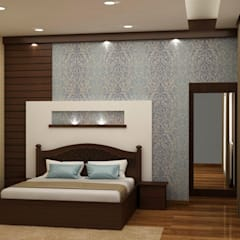 Panel and texture paint both: asian Bedroom by NVT Quality Build solution