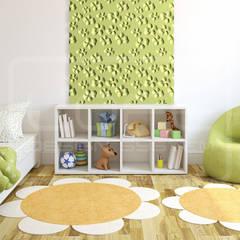 Wandgestaltung im Kinderzimmer:  Kinderzimmer Mädchen von Loft Design System Deutschland - Wandpaneele aus Bayern
