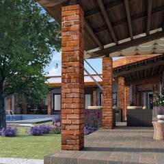 Pasillos y vestíbulos de estilo  por Acrópolis Arquitectura