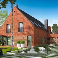 Projekt domu Teodor G2 - luksus przestrzeni i ponadczasowa uroda klinkieru w roli głównej od Pracownia Projektowa ARCHIPELAG Klasyczny