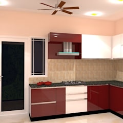 Amanora Park Pune - Pent House:  Kitchen by DECOR DREAMS