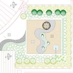jardín japonés: Jardines zen de estilo  por David Araiza Pérez DAP Diseño,  Arquitectura  y Paisaje