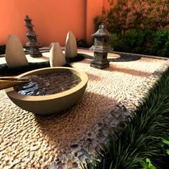 Zen garden by David Araiza Pérez DAP Diseño,  Arquitectura  y Paisaje, Asian