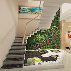 Thiết Kế Nhà Ống 4 Tầng Diện Tích 4x24m Cho Gia Đình 3 Thế Hệ:  Cầu thang by Công ty TNHH Xây Dựng TM – DV Song Phát,