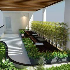 Phối cảnh nội thất tầng 4:  Hiên, sân thượng by Công ty TNHH Xây Dựng TM – DV Song Phát